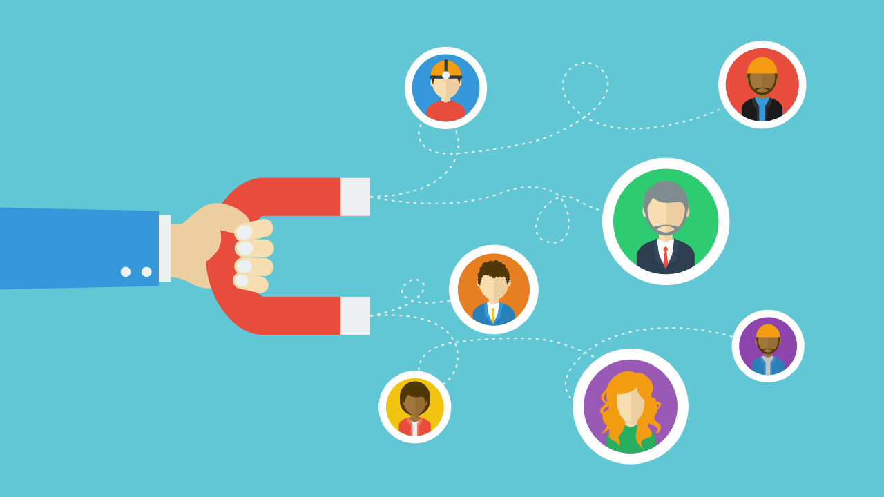 Magnet attracting candidates