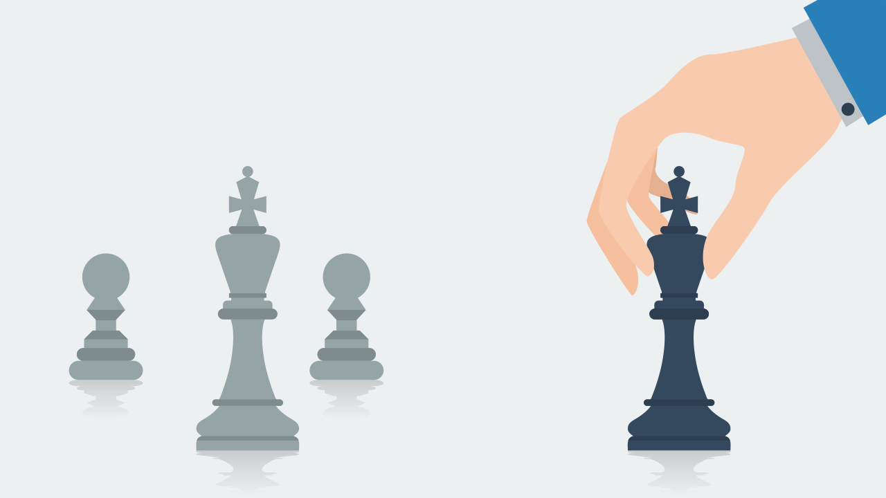 hand holding the queen chess piece